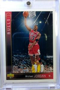 Rare-Promo-1993-94-UPPER-DECK-Michael-Jordan-23-Shading-Variation-Line-on-G