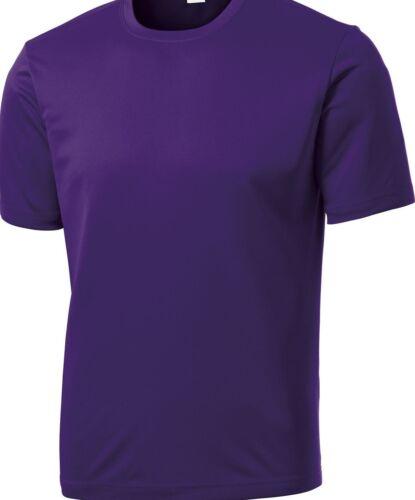 NEW Men/'s SPORT TEK Dri-Fit Workout Running Short Sleeve T-SHIRT S-3XL 4XL ST350
