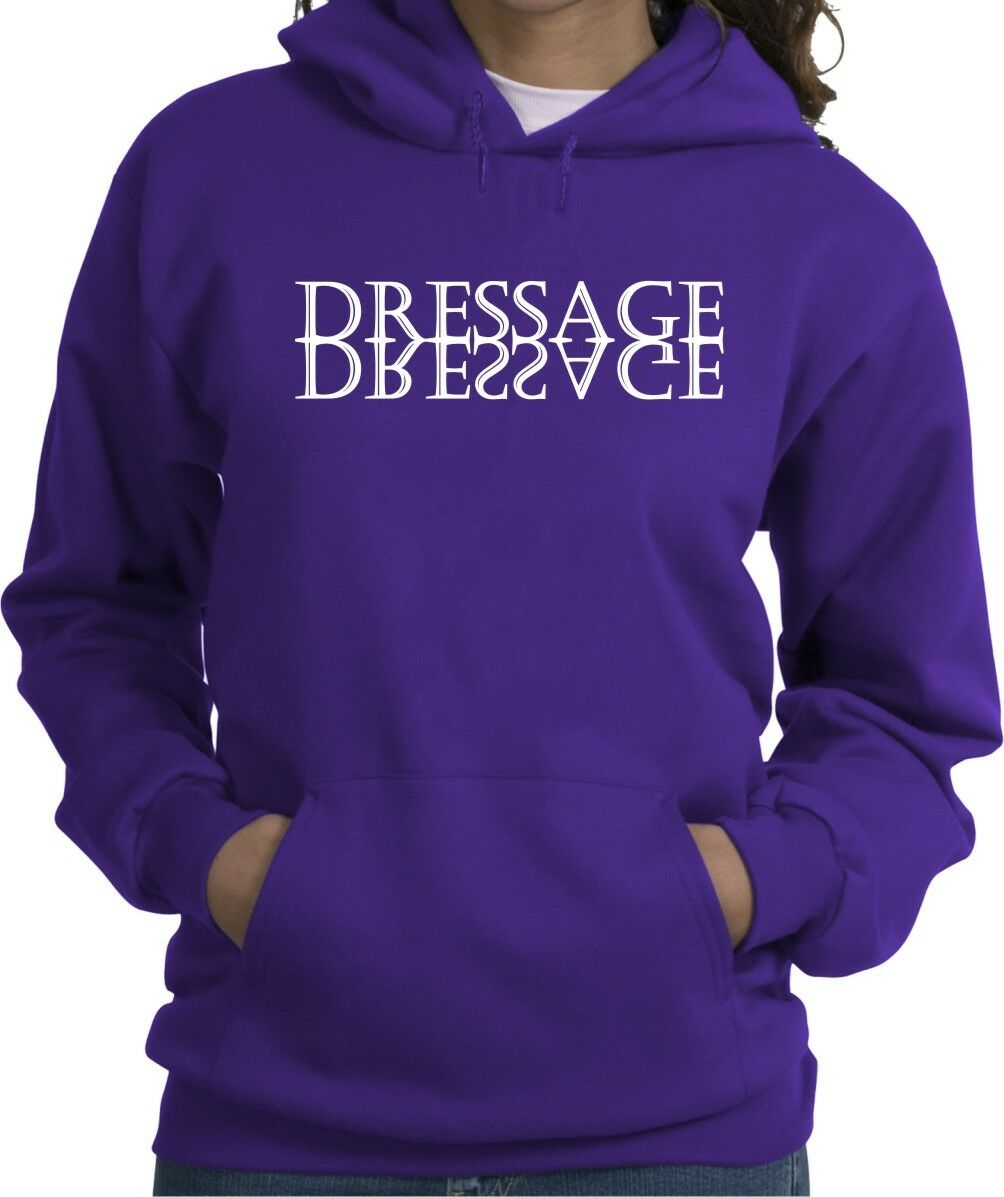 Dressage Mirror Horse & Rider Hooded Sweatshirt Multiple colors & Sizes
