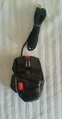 Mad Catz Cyborg R.A.T. RAT 5 Gaming Laser Mouse BLACK RED for PC & Mac TESTED