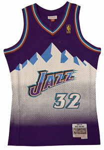 on sale 4e7fb df9bb Details about Utah Jazz Karl Malone Mitchell and Ness Swingman Jersey XL