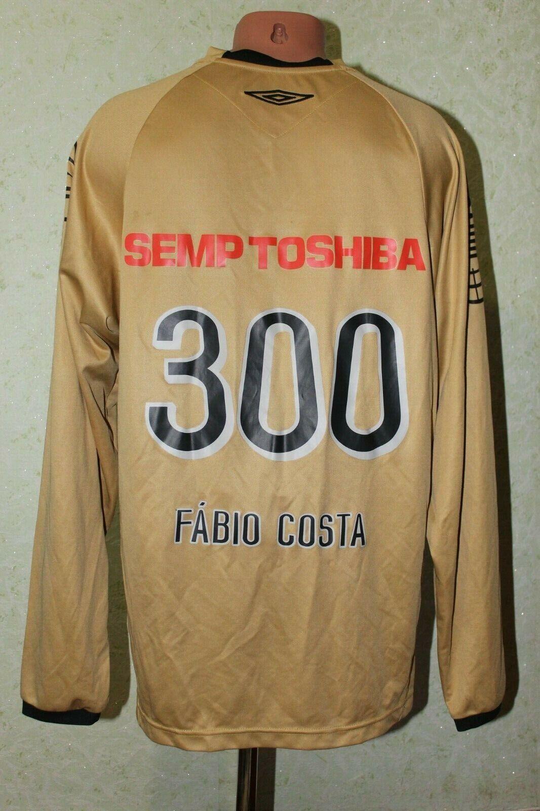Santos Brasile Football shirt jersey calcio 2006 2007 PORTIERE Fabio COSTA D'oro