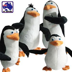Image Is Loading 4x Penguin Madagascar Plush Stuffed Toy Skipper Kowalski