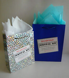 MALE 70th Birthday Luxury SURVIVAL KIT Novelty Gift Greeting Card Alternative