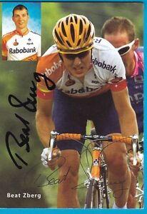 CYCLISME-carte-cycliste-BEAT-ZBERG-equipe-RABOBANK-signee