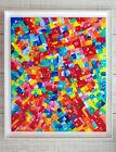 Tableau abstrait Envie de couleurs Peinture feel good Art acrylique toile déco