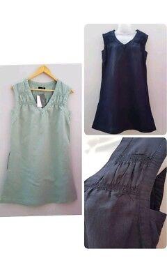 New Ex M/&S Ladies Plus Size Sleeveless Cotton Mix Summer Blouse Top Size 16-24