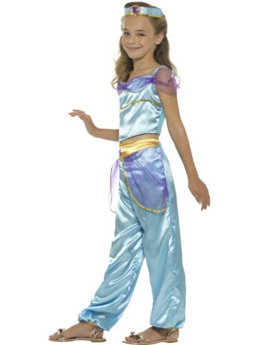 Ragazze Principessa Araba Costume Bambini Jasmine Vestito By Smiffys