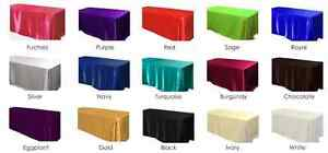 90 x 156 inch Rectangular Satin Tablecloth Wedding Party Catering Shiny