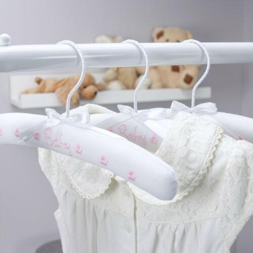 Hangerworld™ 27cm Children Cotton Pink Baby Toddler Clothes Coat Hangers