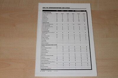 Aus Dem Ausland Importiert 77138) Alfa Romeo 145 - Technische Daten & Ausstattungen - Prospekt 04/1999 Mit Den Modernsten GeräTen Und Techniken