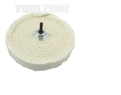 "Toolzone 6/"" BENCH GRINDER WIRE WHEEL /& 6/"" BUFFING POLISHING MOP DRILL DIY Tools"