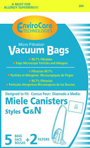 Free-S-H-Miele-Type-G-N-Vacuum-Cleaner-Bags-5-Bags-amp-2-filter-Generic