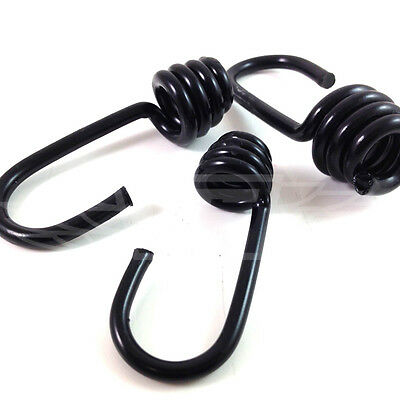 Outdoor Sports 10 X 10mm Plastic Coated Steel Wire Hooks Shock Cord Bungee Elastic Rope Ends
