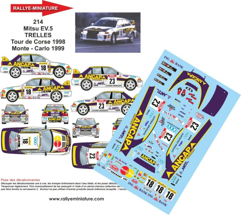 DECALS 1//43 FORD ESCORT WRC SOLBERG RALLY SVEZIA 1999