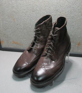 271533 MSBT50 Mens Boots Size 9.5 M Brown Leather 1850 Series Johnston & Murphy