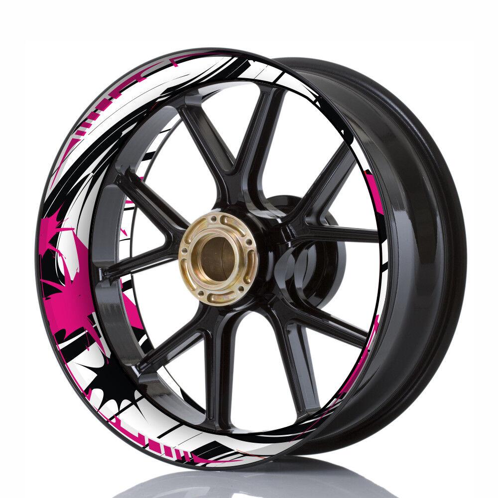 Felgenaufkleber Wheelskinzz® Felgendekor Felgendekor Felgendekor Wheelsticker  Funny Style  Rosa 34293b