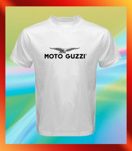 MOTO GUZZI Vintage Logo Italian Motor Retro Men/'s White T-Shirt S M L XL 2XL 3XL