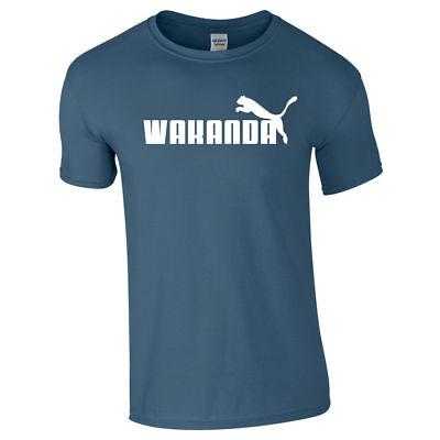 2d7503b7 WAKANDA Tshirt Tee Top Black Panther Parody Gift Funny Unisex Kids Adults  Gold   eBay