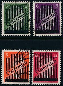 Stamp-Austria-SC-399-402-1945-WWII-Adolf-Hitler-Overprint-Germany-Used