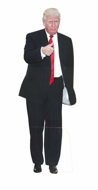 Engraving President Donald Trump Middle Finger Life Size Stand Up aahs!