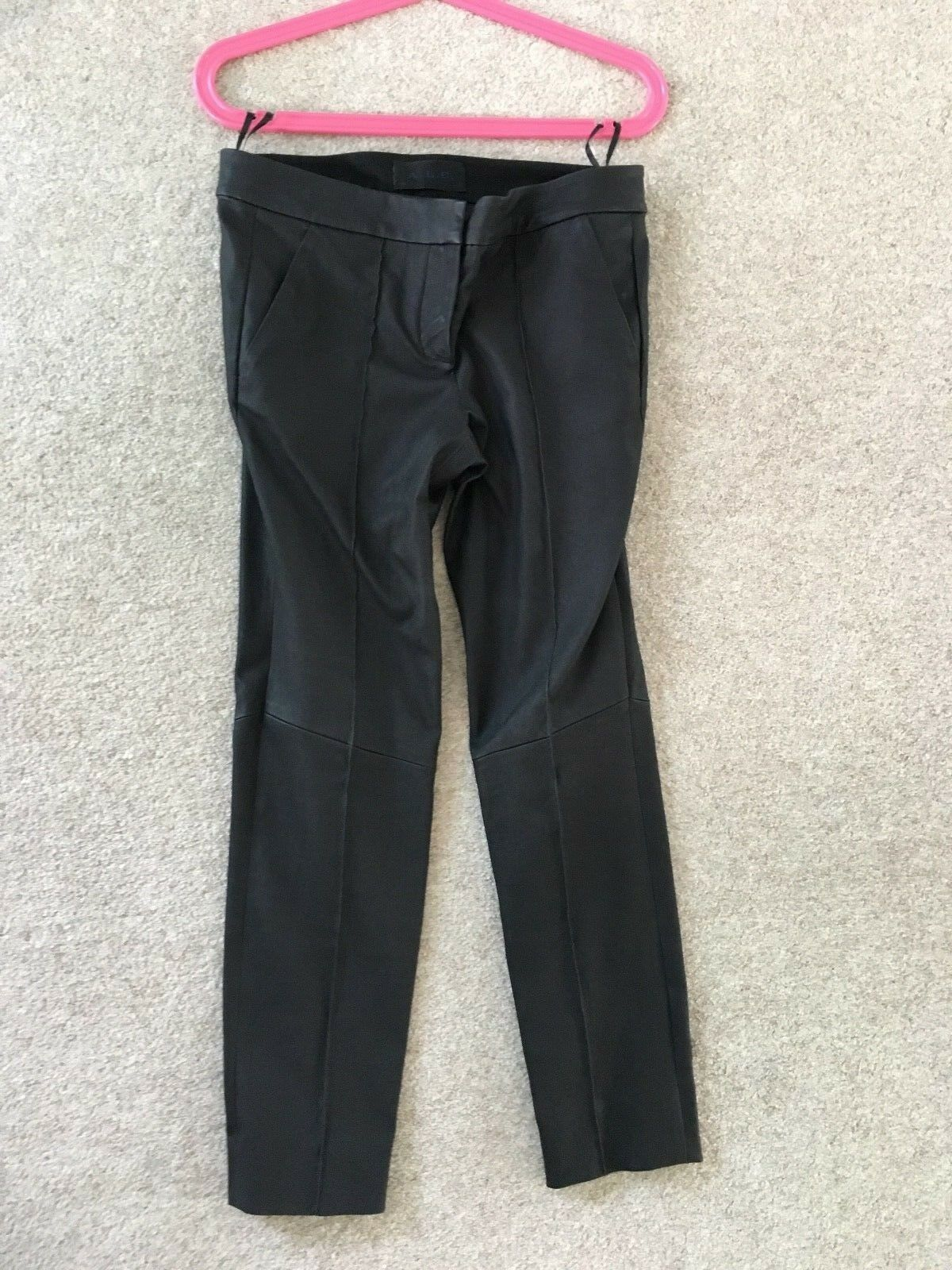 ALC Lamb Leather Cropped Skinny Trousers 10