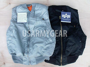 f5c1007c9aa Made in USA ALPHA Industries Air Force Army Pilot Flight Reversible ...