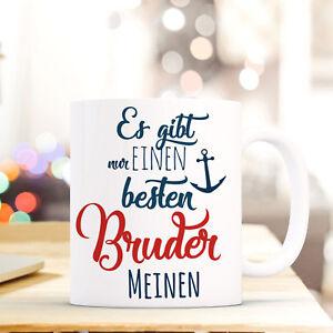"""Tassen Ehrlich Tasse Becher Spruch """"bester Bruder"""" Geschenk Kaffeebecher Motto Blau/rot Ts557 Ohne RüCkgabe"""