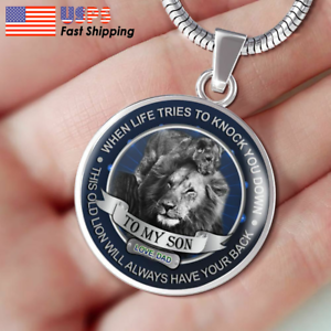 Father and Son Necklace Pendant To My Son Necklace This Old Lion Dad