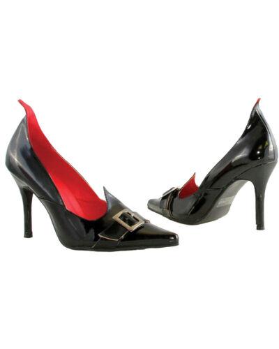 HA70W6 Morris Costumes Women/'s Witch Buckle Accent Black Pump Style Shoe Size 6