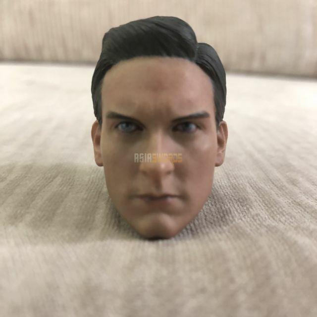1//6 scale head sculpt Tobey Maguire Hottoys Spiderman Black Suit Peter Parker AU