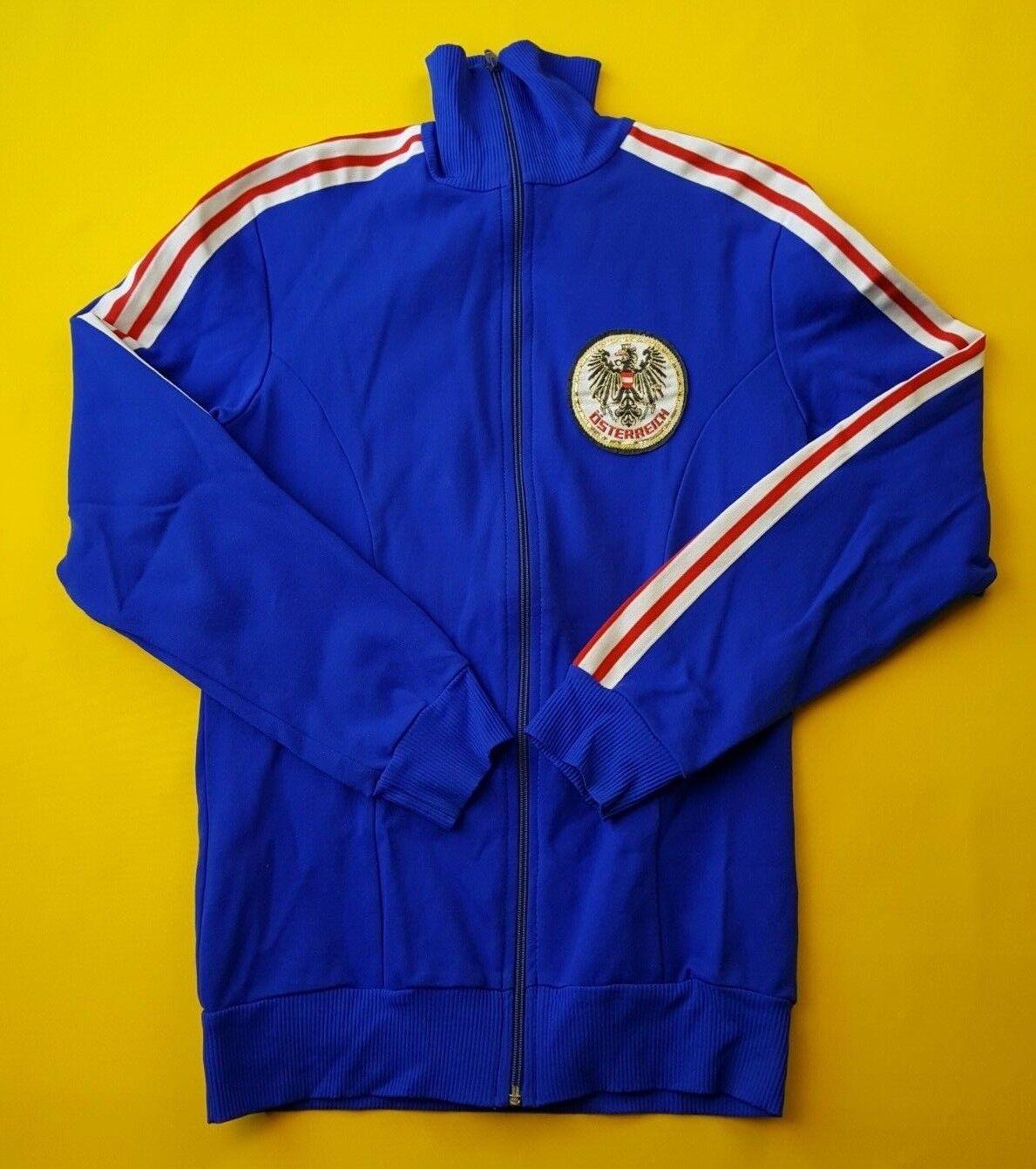 5 5 Austria 80`s Vintage Retro Chaqueta Tamaño mediano Adidas Fútbol Fútbol ig93