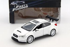 Mr. Little Nobody's Subaru WRX STI Fast and Furious 8 weiß 1:24 Jada Toys