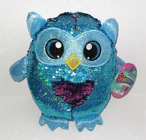 """SHIMMEEZ SEQUINS 9/"""" PLUSH SINGLE OLIVIA OWL NEW WITH TAG"""