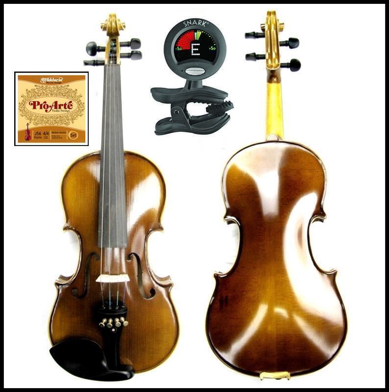 Violin Francesco Cervini 3 4 SV-2 Outfit Case Bow Snark SN-5 D'addario Pro Arte