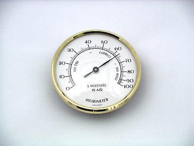 70mm BRASS BEZEL insert Hygrometer unit gold sunburst dial