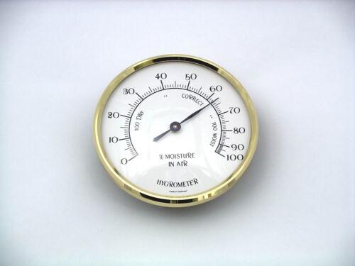 70 Mm Brass Bezel Insert Hygromètre Unité Cadran Blanc