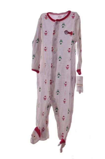baby newborn carters santa claus sleeper my first 1st christmas pjs outfit new
