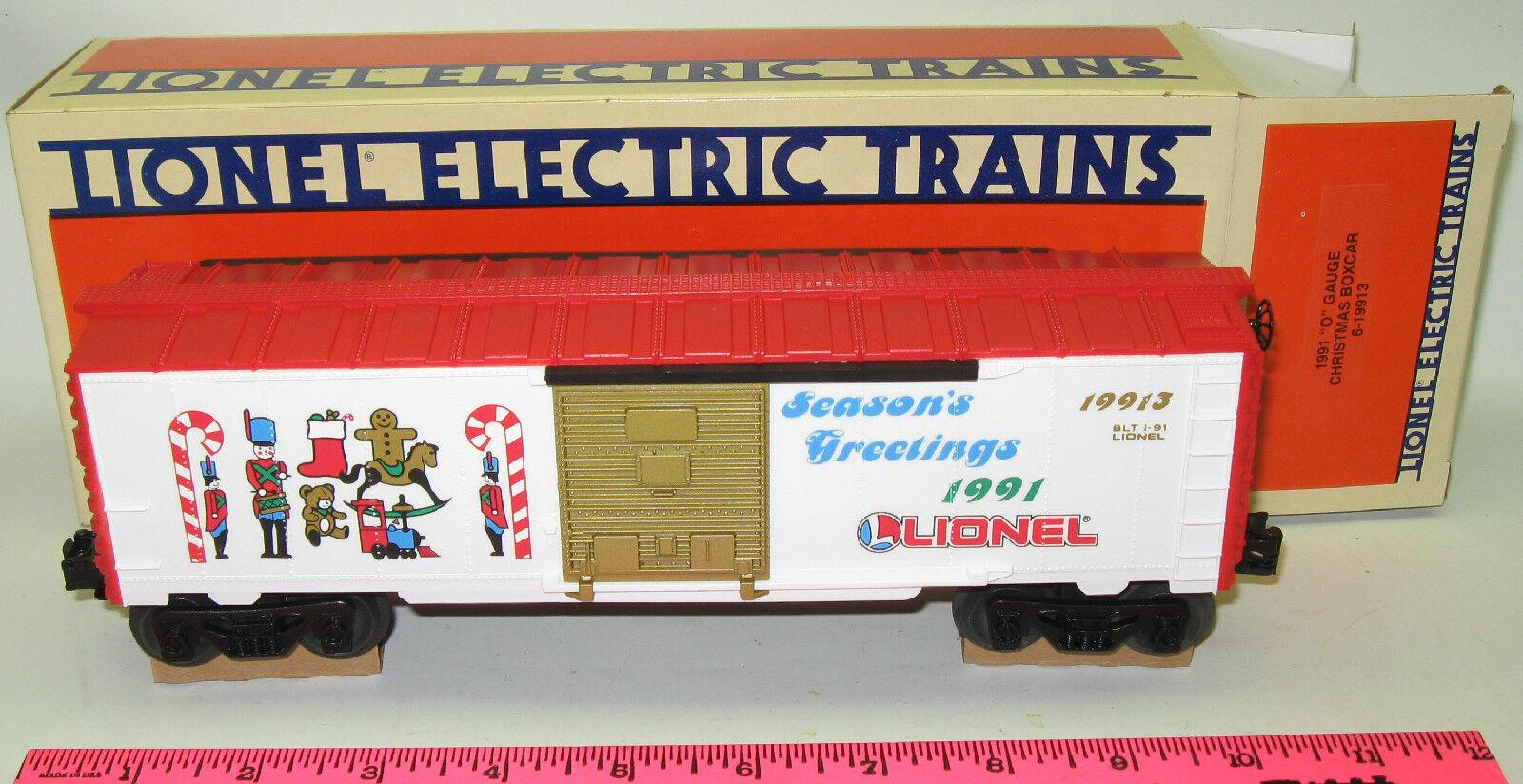 Lionel 6-19913 1991  O  gauge Christmas boxcar