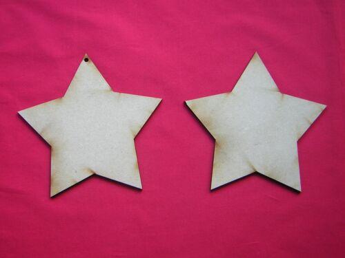 6 Láser De Corte De Mdf De Madera Formas 13omm Mdf Estrellas 13 Cm