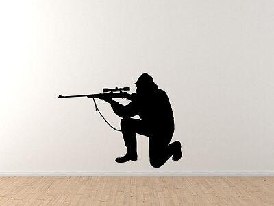 Deer Duck Hunt Chasing Tail Car Tablet Vinyl Decal Hunting Rifle Aim #4