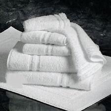 24 (2 dozen) white 100% cotton hotel hand towels 16x27