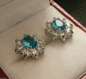 White-gold-stud-earrings-18kGF-oval-aquamarine-white-sapphire-BOXED-Plum-UK