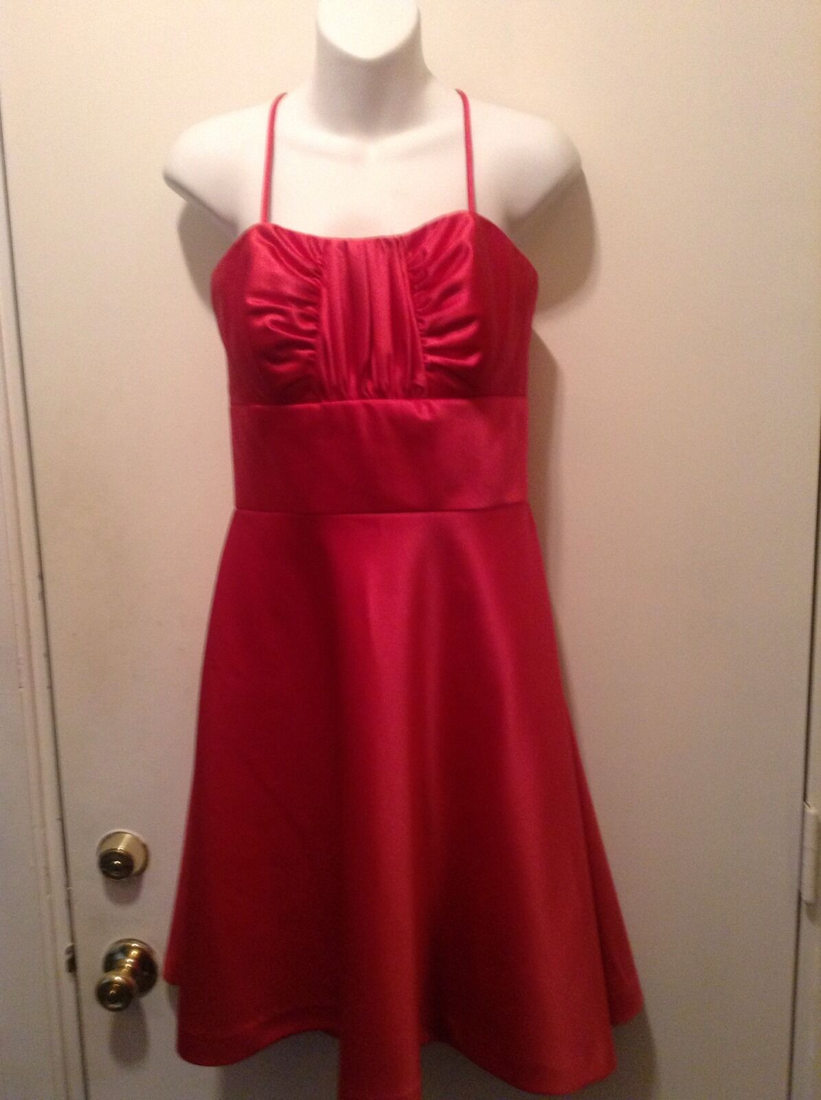 Women's Bill Levkoff Removable Straps Strapless Pink Party Evening Dress Sz. 10