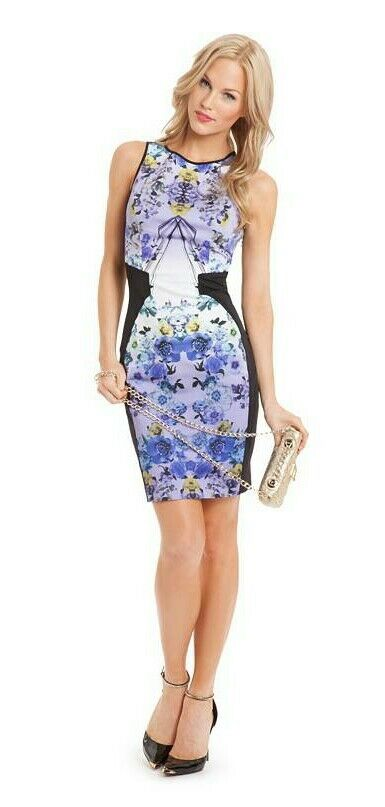 GUESS BY MARCIANO purpleC FLORAL DRESS