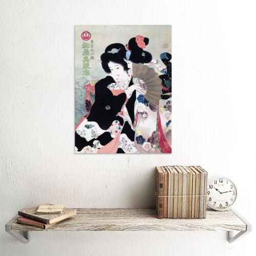 ADVERT MATSUYA GOFUKUTEN KIMONO SHOP JAPAN GEISHA POSTER ART PRINT BB1901B