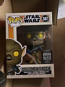 Funko Pop 2020 Star Wars Celebration Exclusive Concept Series Chewbacca #387