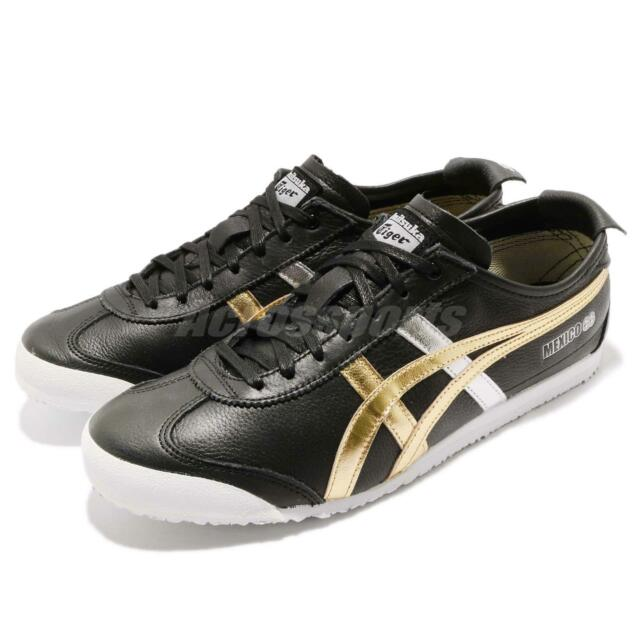 new arrival 67939 566db Asics Onitsuka Tiger Mexico 66 Black Gold Men Running Shoes Sneakers  D5V2L-9094