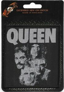 Official-Licensed-Merch-Woven-Sew-on-PATCH-Rock-Freddie-Mercury-QUEEN-Faces