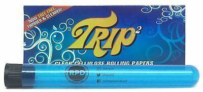 1 Pack with RPD Doob Tube Trip 2 Cellulose Clear Rolling Papers King Size